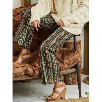 Palazzo Pants with Bohemian Print - COLORMIX COLORMIX