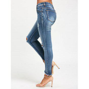 Slim Fit Frayed Ninth Torn Jeans - 2XL 2XL
