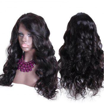 Long Side Parting Bouffant Thick Body Wave Synthetic Wig - NATURAL BLACK NATURAL BLACK