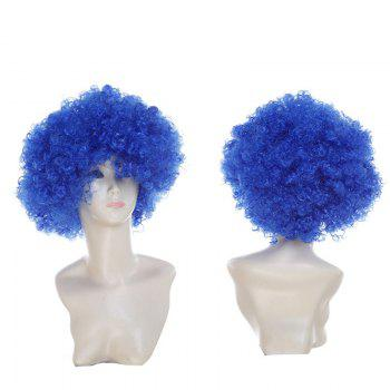 Fluffy Afro Curly Short Clown Fans Carnival Party Wig - ROYAL ROYAL