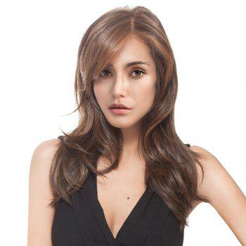 Long Side Parting Colormix Layered Slightly Curled Synthetic Wig - COLORMIX COLORMIX