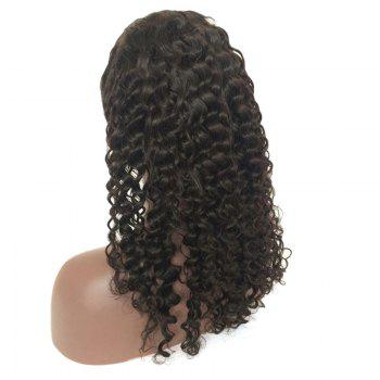 Side Parting Medium Deep Wave Lace Front Real Human Hair Wig -  NATURAL BLACK