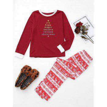 Christmas T Shirt with Pants Pajama Set - M M