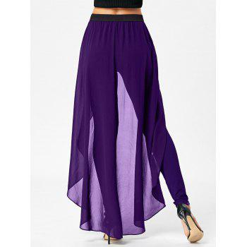 High Waist Slimming Pants with Skirt - M M