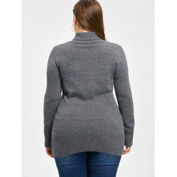 Plus Size Shawl Collar Double Breasted Cardigan - 4XL 4XL