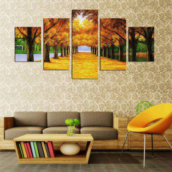 Maple Trees Printed Unframed Canvas Paintings - 1PC:12*31,2PCS:12*16,2PCS:12*24 INCH( NO FRAME ) 1PC:12*31,2PCS:12*16,2PCS:12*24 INCH( NO FRAME )
