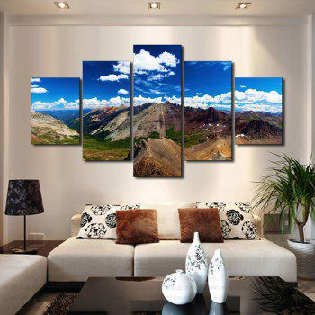 Unframed Mountains Printed Canvas Paintings - COLORMIX 1PC:12*31,2PCS:12*16,2PCS:12*24 INCH( NO FRAME )