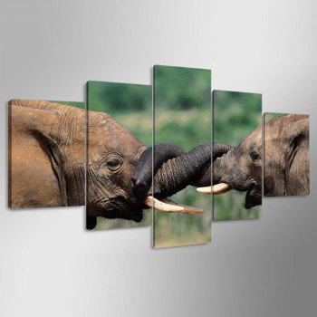 Elephants Printed Unframed Canvas Paintings - COLORMIX COLORMIX
