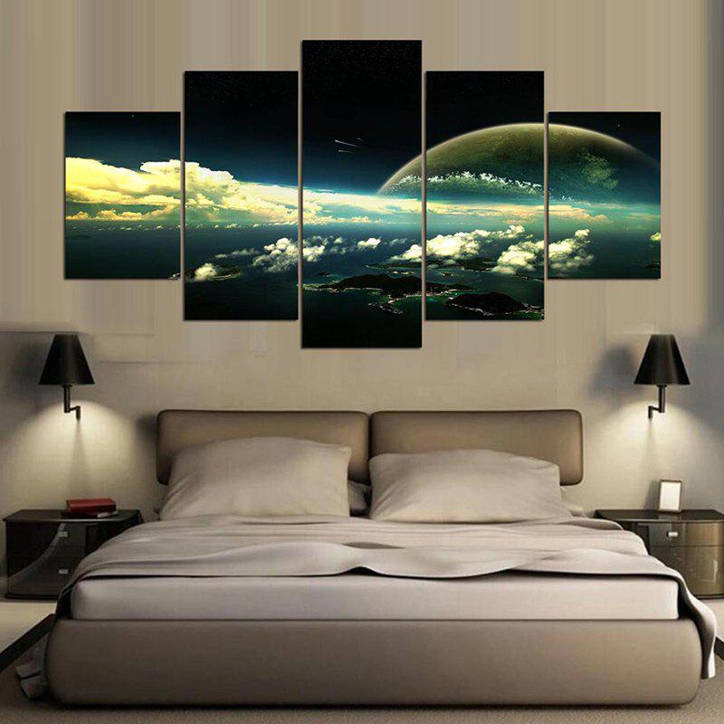 Nuages ​​Paysage Impression Split Canvas Wall Art Paintings - coloré 1PC:8*20,2PCS:8*12,2PCS:8*16 INCH( NO FRAME )