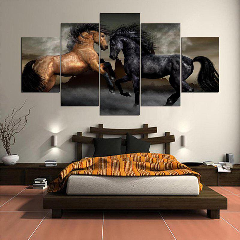 Horses Printed Unframed Wall Art Canvas Paintings sunset horses pattern unframed decorative canvas paintings