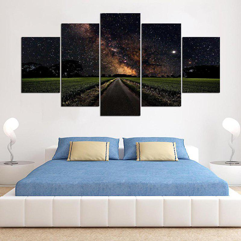 Peintures en toile d'art murales sans fin de Starry Sky Road - coloré 1PC:8*20,2PCS:8*12,2PCS:8*16 INCH( NO FRAME )