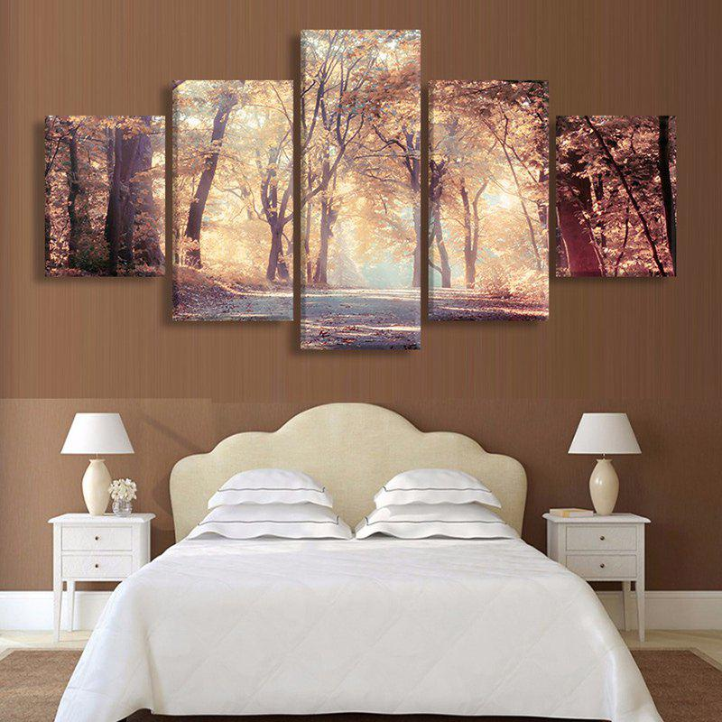 Maple Forest Print Unframed Split Canvas Paintings maple forest pattern unframed decorative canvas paintings
