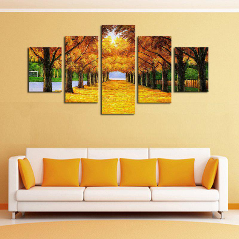 Maple Trees Printed Unframed Canvas Paintings - COLORFUL 1PC:12*31,2PCS:12*16,2PCS:12*24 INCH( NO FRAME )