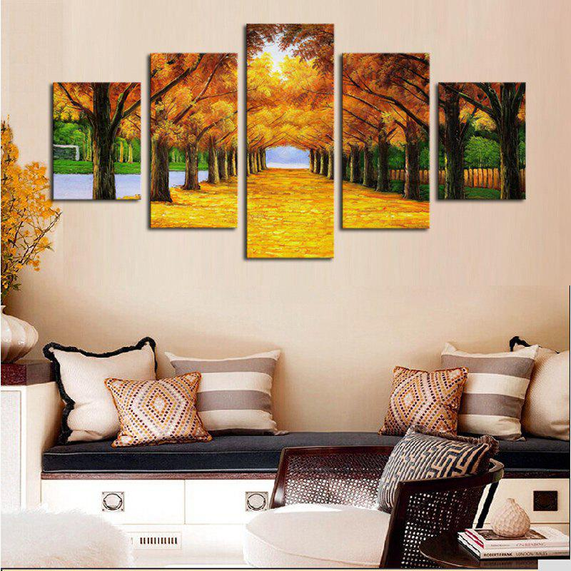 Maple Trees Printed Unframed Canvas Paintings unframed trees waterfall pattern canvas paintings