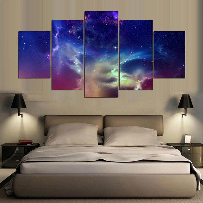 Aurora Sky Printed Unframed Canvas Paintings non woven bubble butterfly wallpaper design modern pastoral flock 3d circle wall paper for living room background walls 10m roll