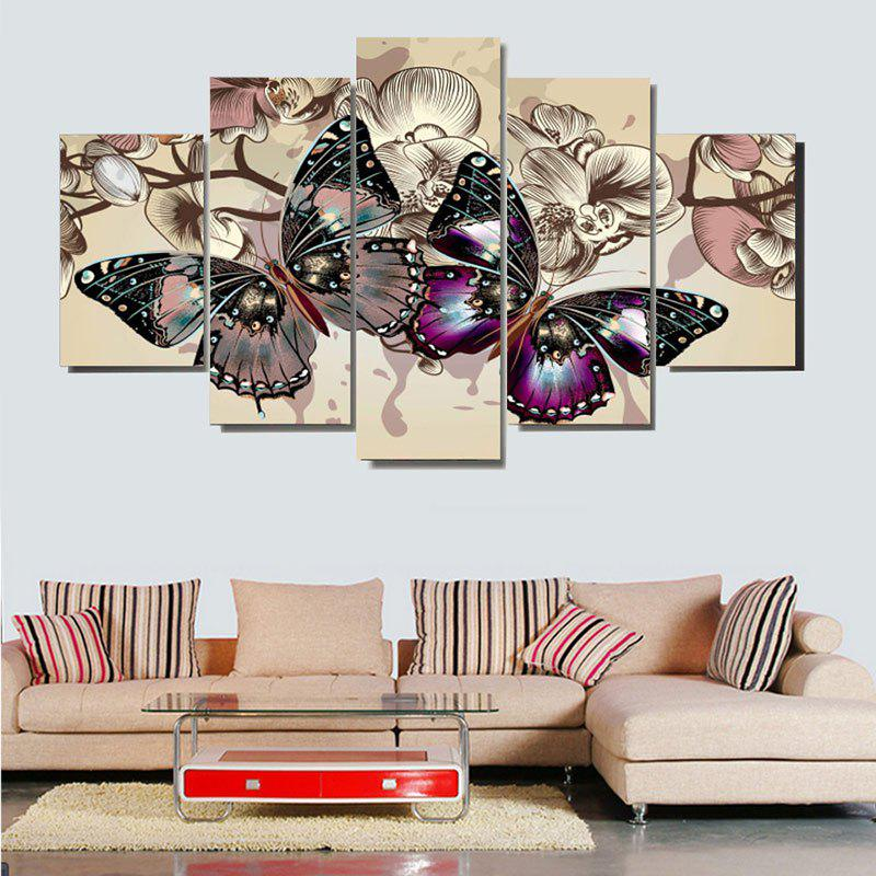 Unframed Colorful Butterflies Pattern Canvas Paintings sunset horses pattern unframed decorative canvas paintings