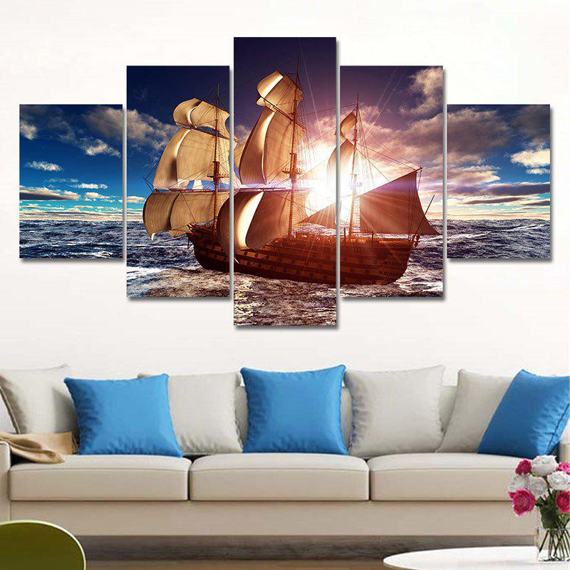 Sailboat Printed Unframed Canvas Paintings inuovo 7132
