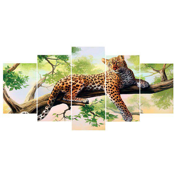 Leopard Pattern Wall Art Split Canvas Paintings, Colorful
