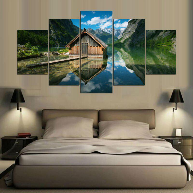 Lake House Pattern Split Canvas Wall Art Paintings leopard pattern wall art split canvas paintings