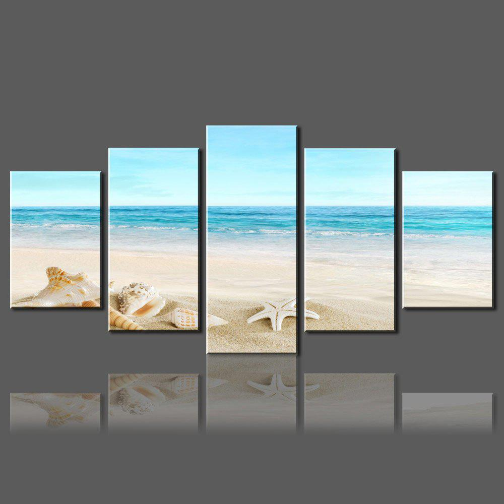 Wall Split Canvas Art Paintings Beach Starfish Pattern wall art sunset pyramids printed unframed canvas paintings