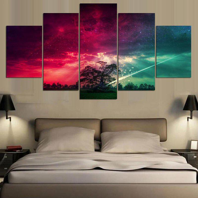 Unframed Colorful Starry Sky Pattern Canvas Paintings burning guitar pattern unframed wall art canvas paintings