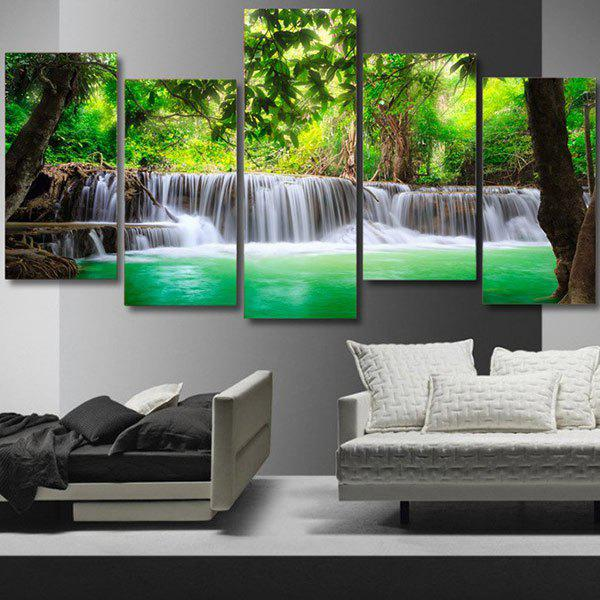 Unframed Trees Waterfall Pattern Canvas Paintings coloring of trees