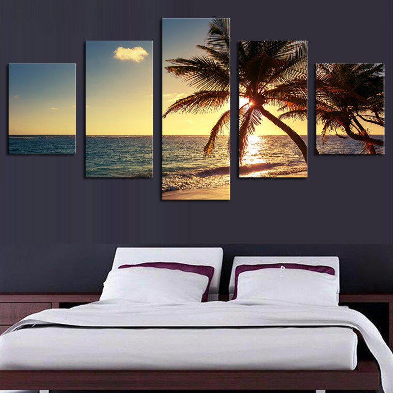 Sunset Coconut Tree Split Canvas Wall Paintings wall art sunset pyramids printed unframed canvas paintings