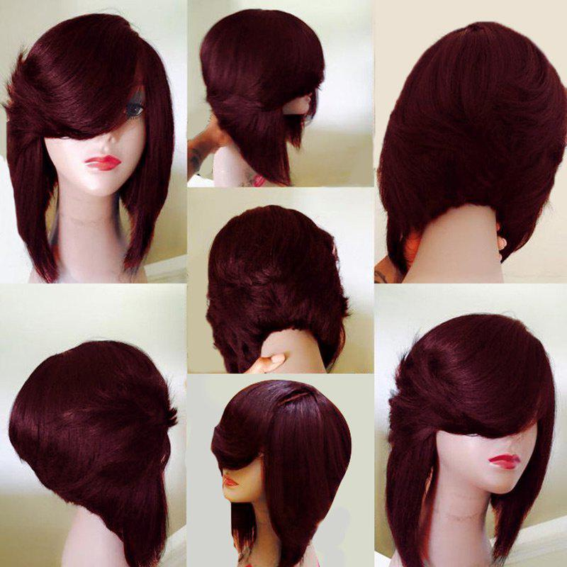 Medium Side Flip Part Straight Inverted Bob Layered Synthetic Wig от Dresslily.com INT