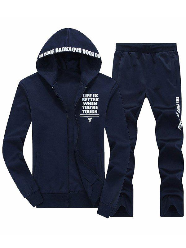 Zip Up Graphic Hoodie and Sweatpants zip up camouflage insert hoodie and sweatpants