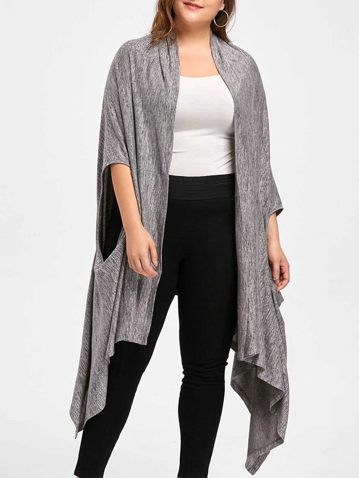 Cardigan Chiné Grande Taille - RAL Gris Terre 3XL