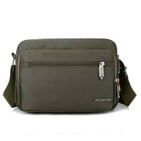 Waterproof Lightweight Nylon Casual Crossbody Bag - ARMY GREEN