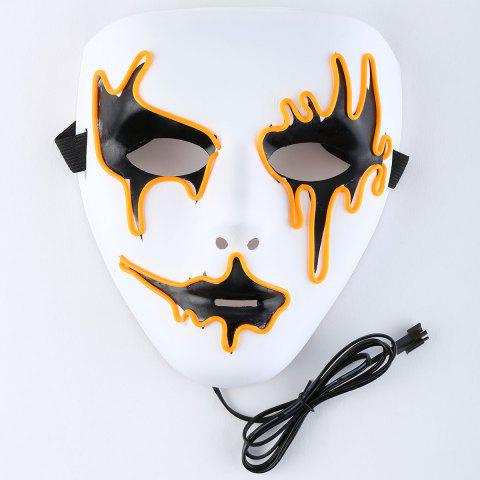 Halloween EL Wire LED Flashing Full Face Mask - Orange