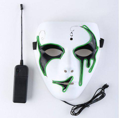 EL Wire Luminous Glowing Halloween Mask - GRASS GREEN