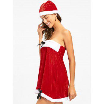 Strapless Velvet Christmas Dress - S S