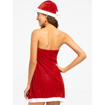 Strapless Velvet Christmas Dress - 2XL 2XL