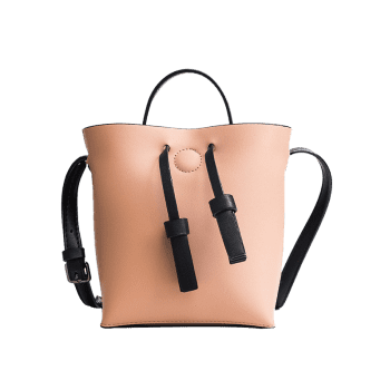 Bucket Bag and Zipper Clutch 2-piece Set - PINK