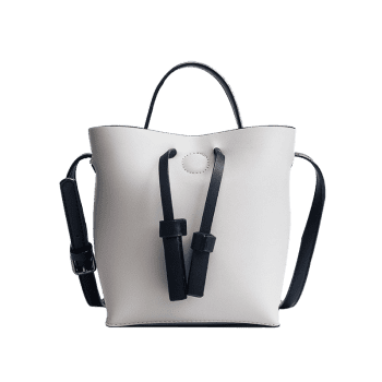 Bucket Bag and Zipper Clutch Ensemble 2 pièces - Gris