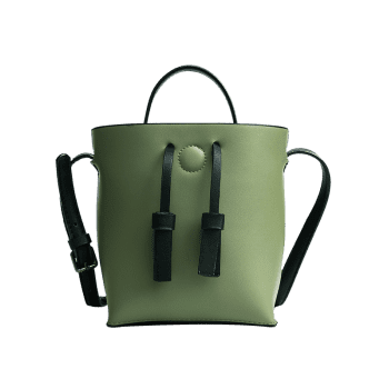 Bucket Bag and Zipper Clutch Ensemble 2 pièces - Vert