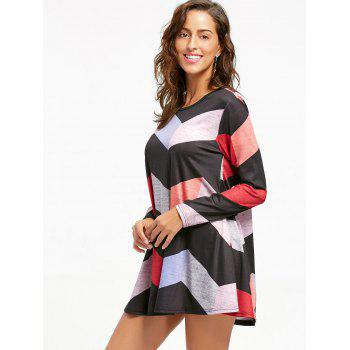 Robe Mini Swing Zigzag à manches longues - multicolorcolore XL