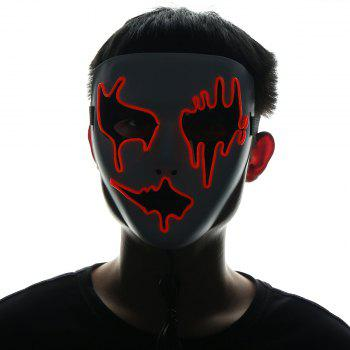 Halloween EL Wire LED Flashing Full Face Mask - JACINTH