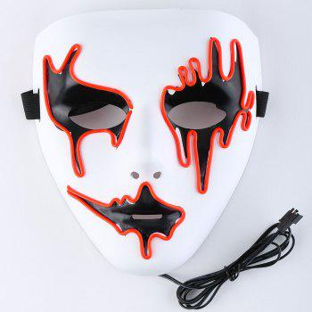 Halloween EL Wire LED Flashing Full Face Mask - Tangerine