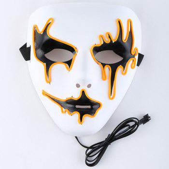 Halloween EL Wire LED Flashing Full Face Mask - ORANGE ORANGE