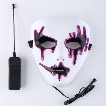 Halloween EL Wire LED Flashing Full Face Mask - PURPLE