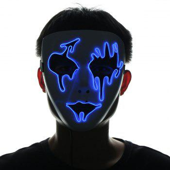 Halloween EL Wire LED Flashing Mask - BLUE