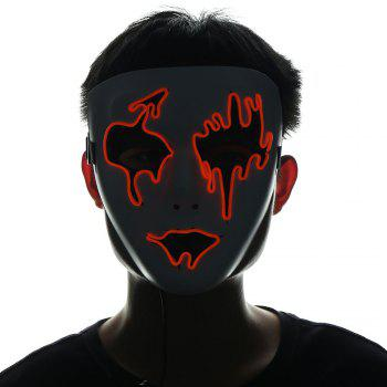 Halloween EL Wire LED Flashing Mask - JACINTH