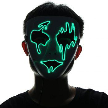 Halloween EL Wire LED Flashing Mask - FLUORESCENT YELLOW