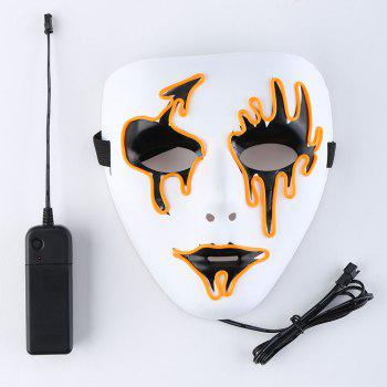 Halloween EL Wire LED Flashing Mask - ORANGE ORANGE