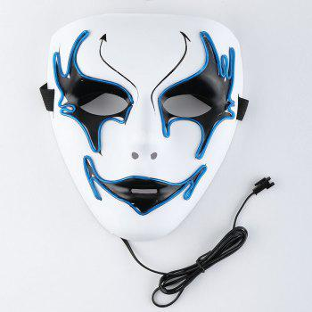 Halloween EL Wire Glowing Costume Mask - BLUE BLUE