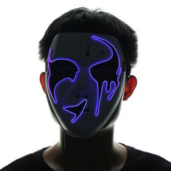 EL Wire Luminous Glowing Halloween Mask - PURPLE