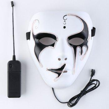 EL Wire Luminous Glowing Halloween Mask - PINK PINK